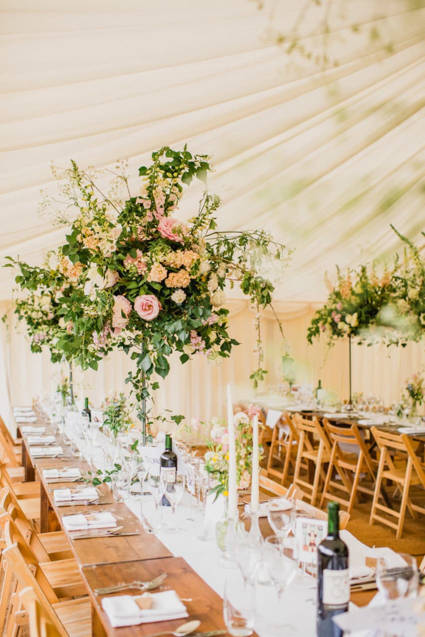 Marquee decor by Tattie Rose