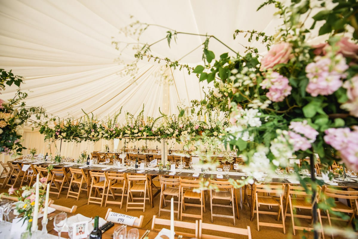 Marquee decor by Tattie Rose at Hatch House