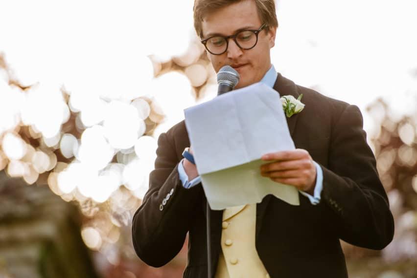 Speech from groom
