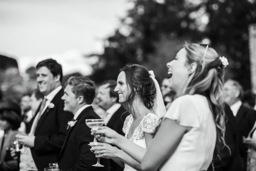 wedding speeches outdoors