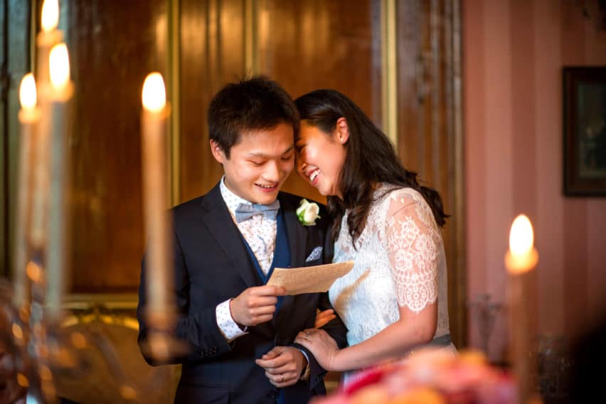 loving moment during speeches