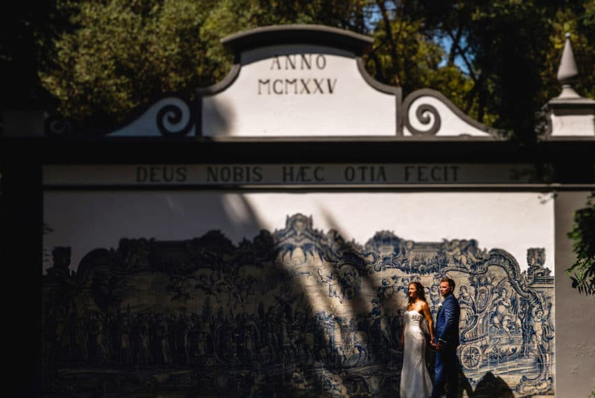 couple at destination wedding in Portugal