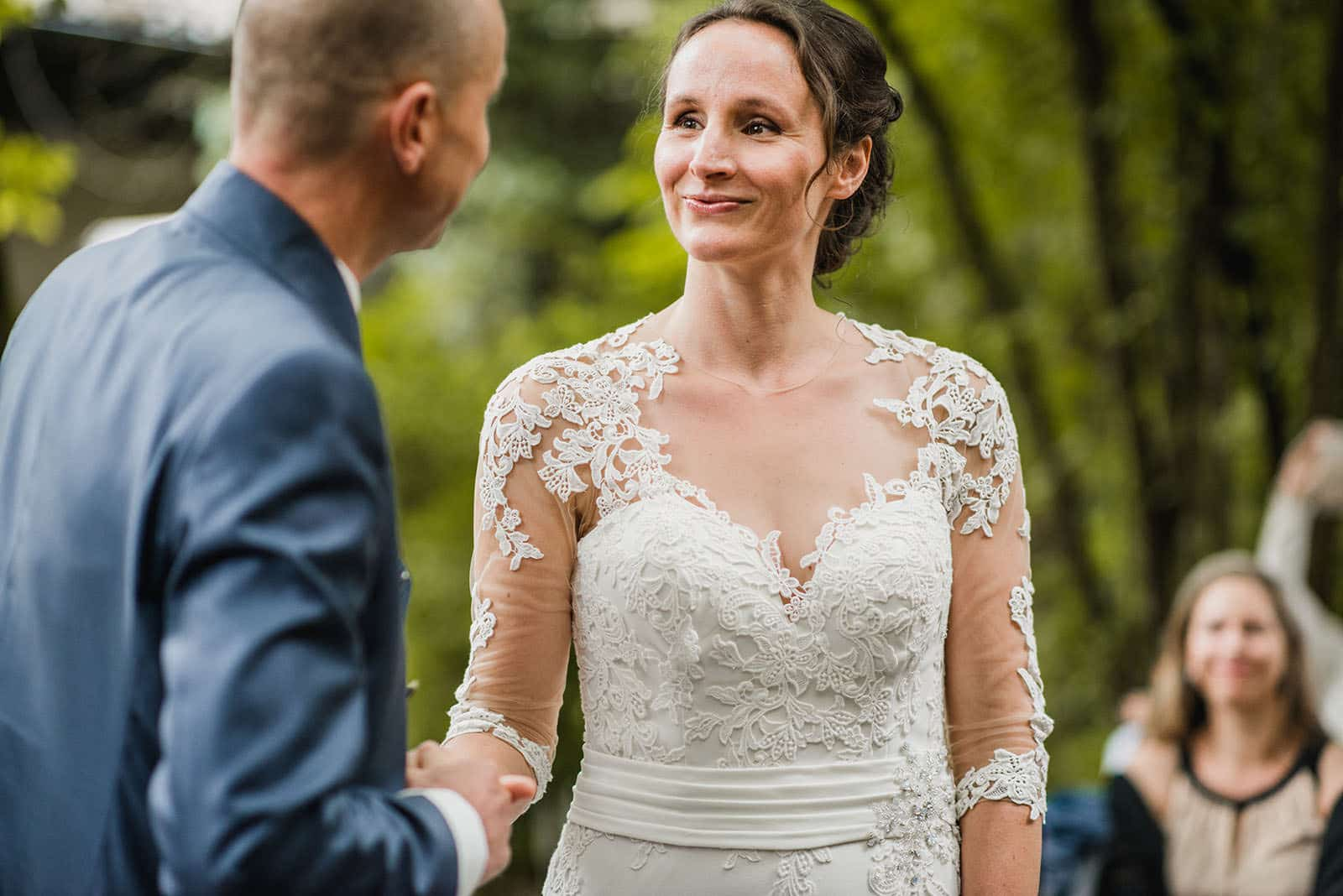 outdoor wedding ceremony in Holland
