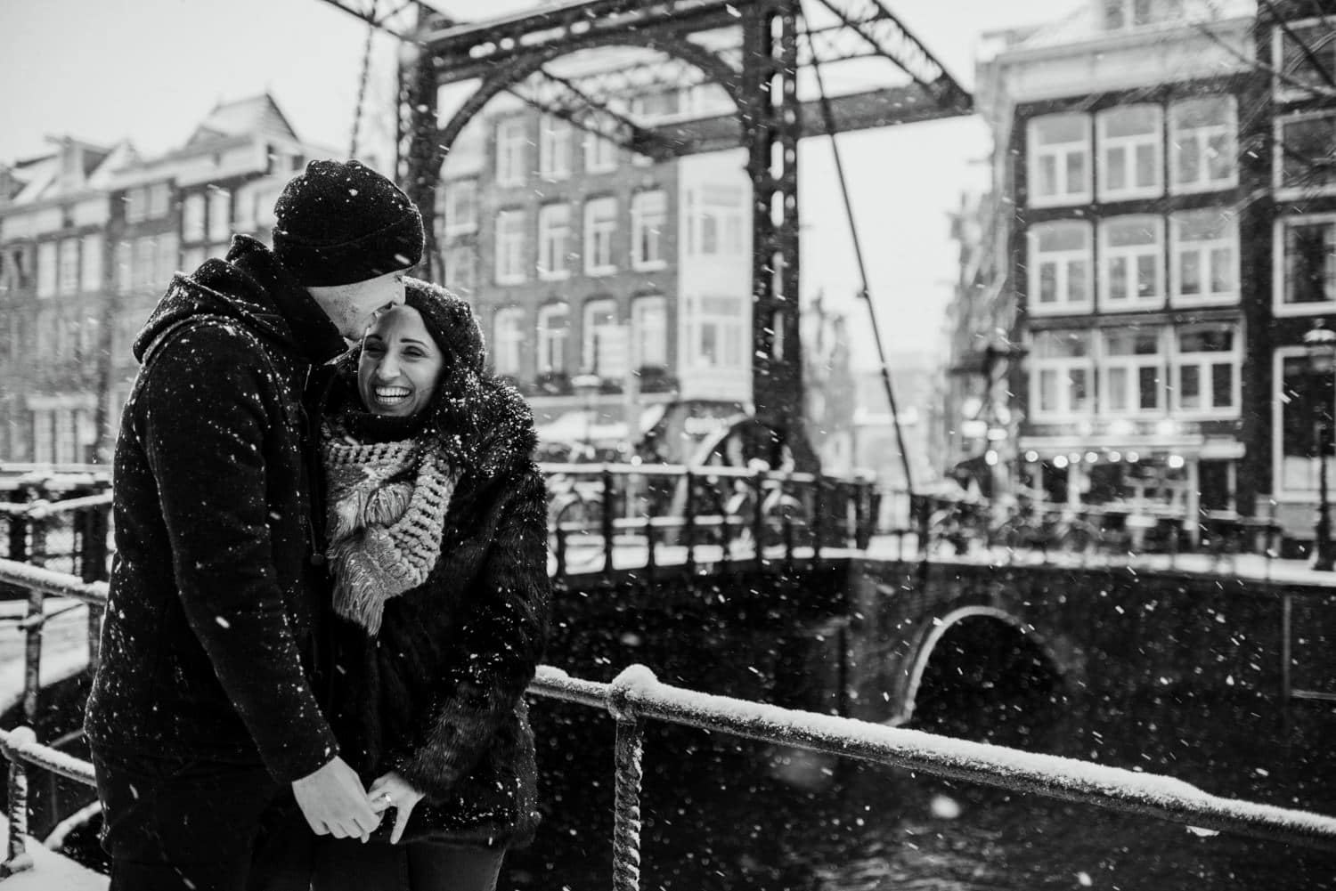 amsterdam in the snow