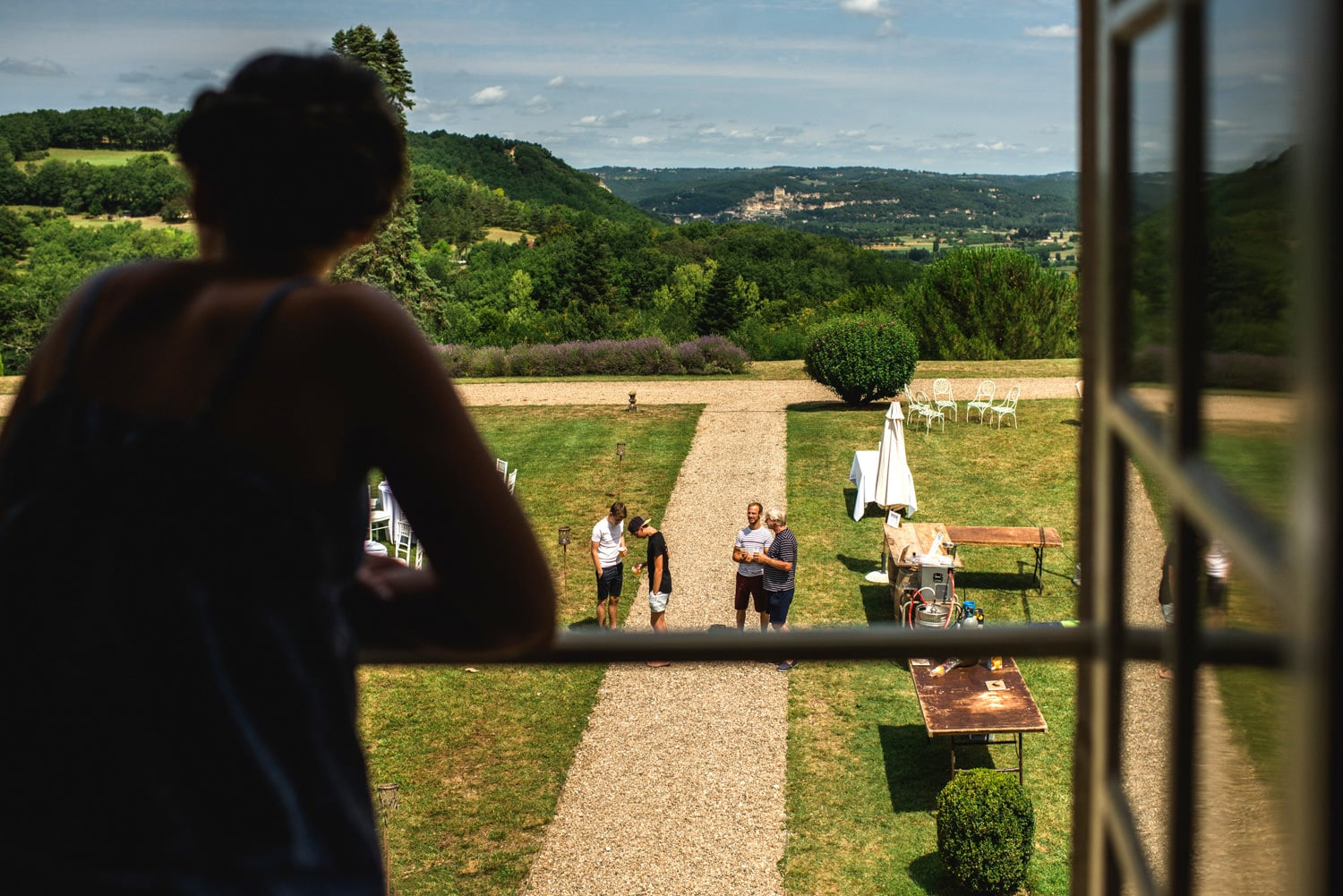 view out window of Chateau de Lacoste France