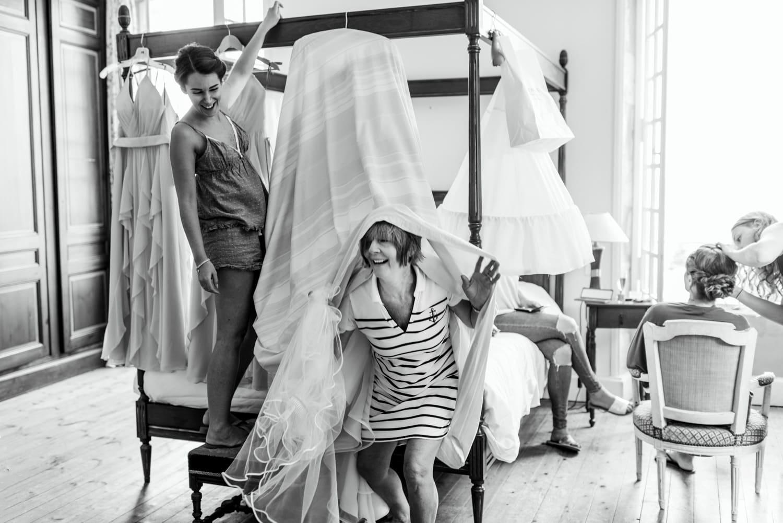preparations at Chateau de Lacoste France