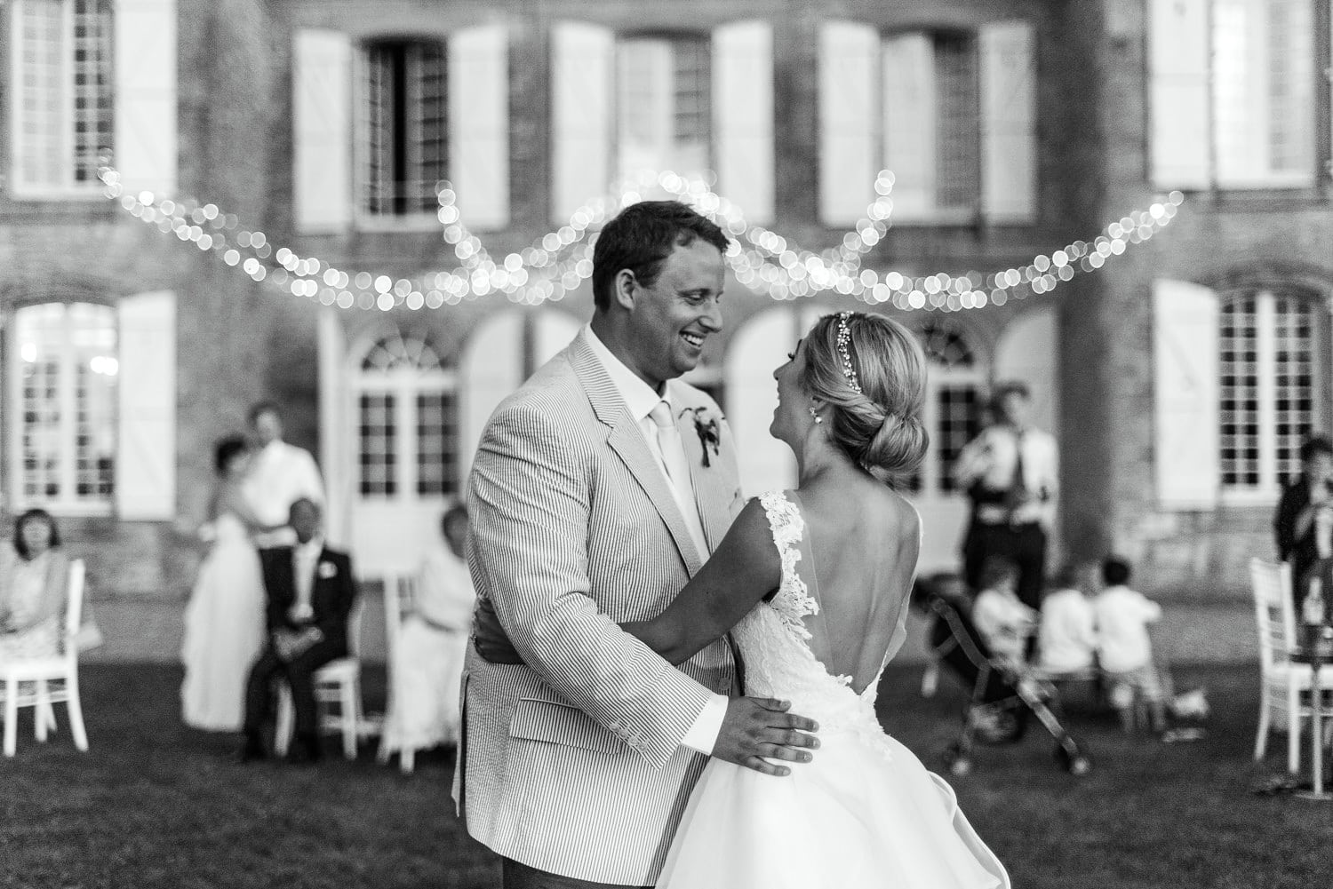 first dance at chateau de Lacoste France