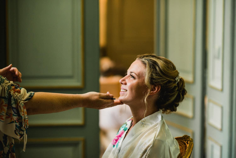 bridal makeup at chateau la Durantie