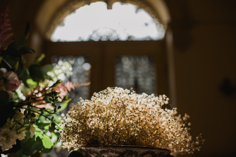 flowers at chateau la Durantie