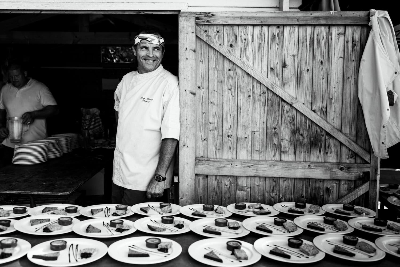 chef portrait plating up