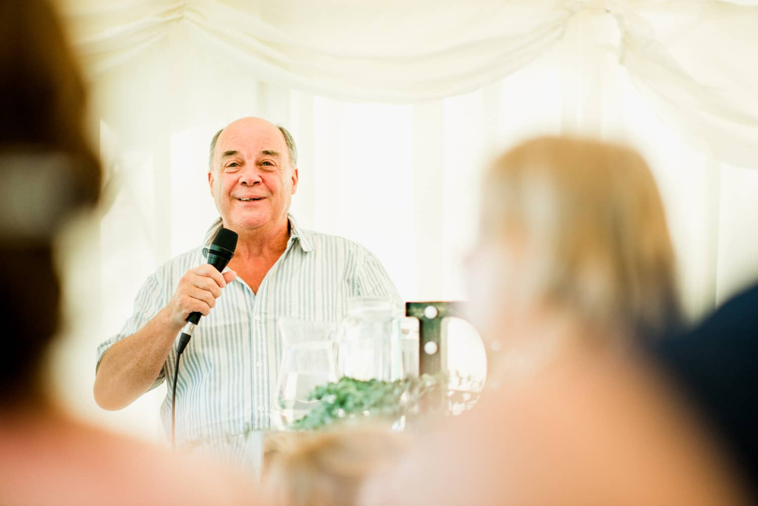 wedding speeches in Marquee at Chateau la Durantie