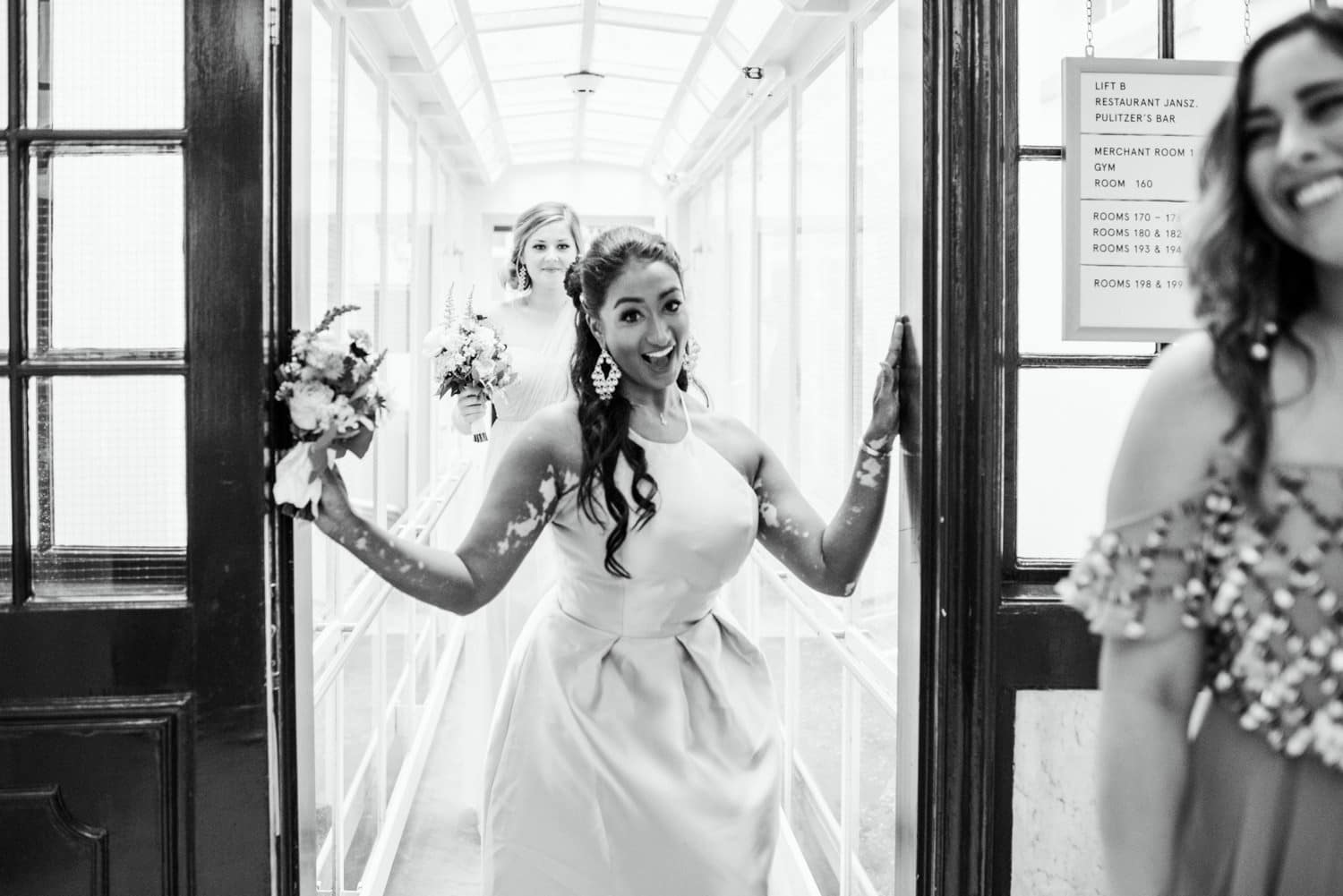 bridesmaids at Pulitzer Hotel Amsterdam