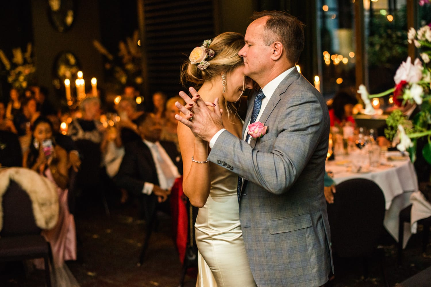 father and daughter dance at Pulitzer Hotel Amsterdam