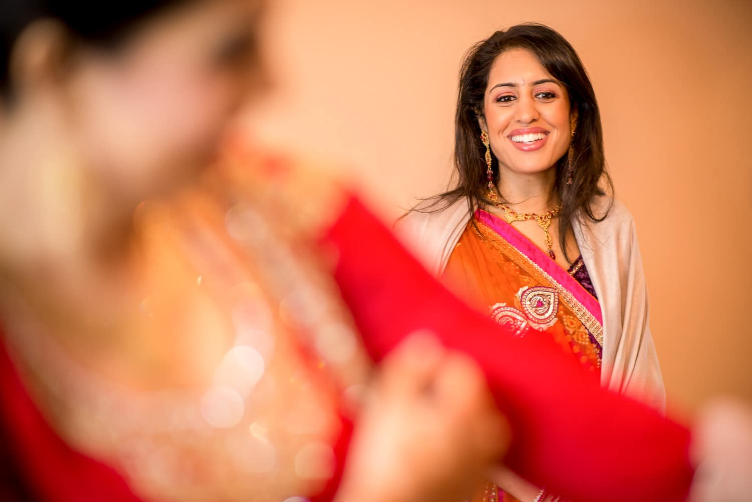 colourful bridal preparations