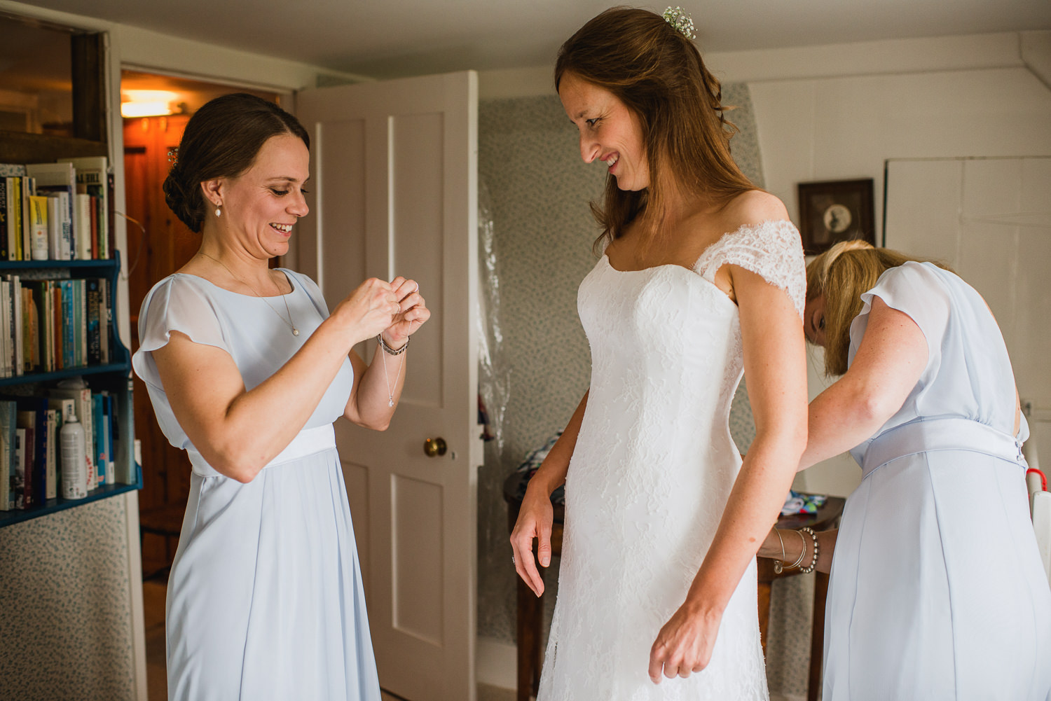 Hampshire Wedding Photography, bride getting ready
