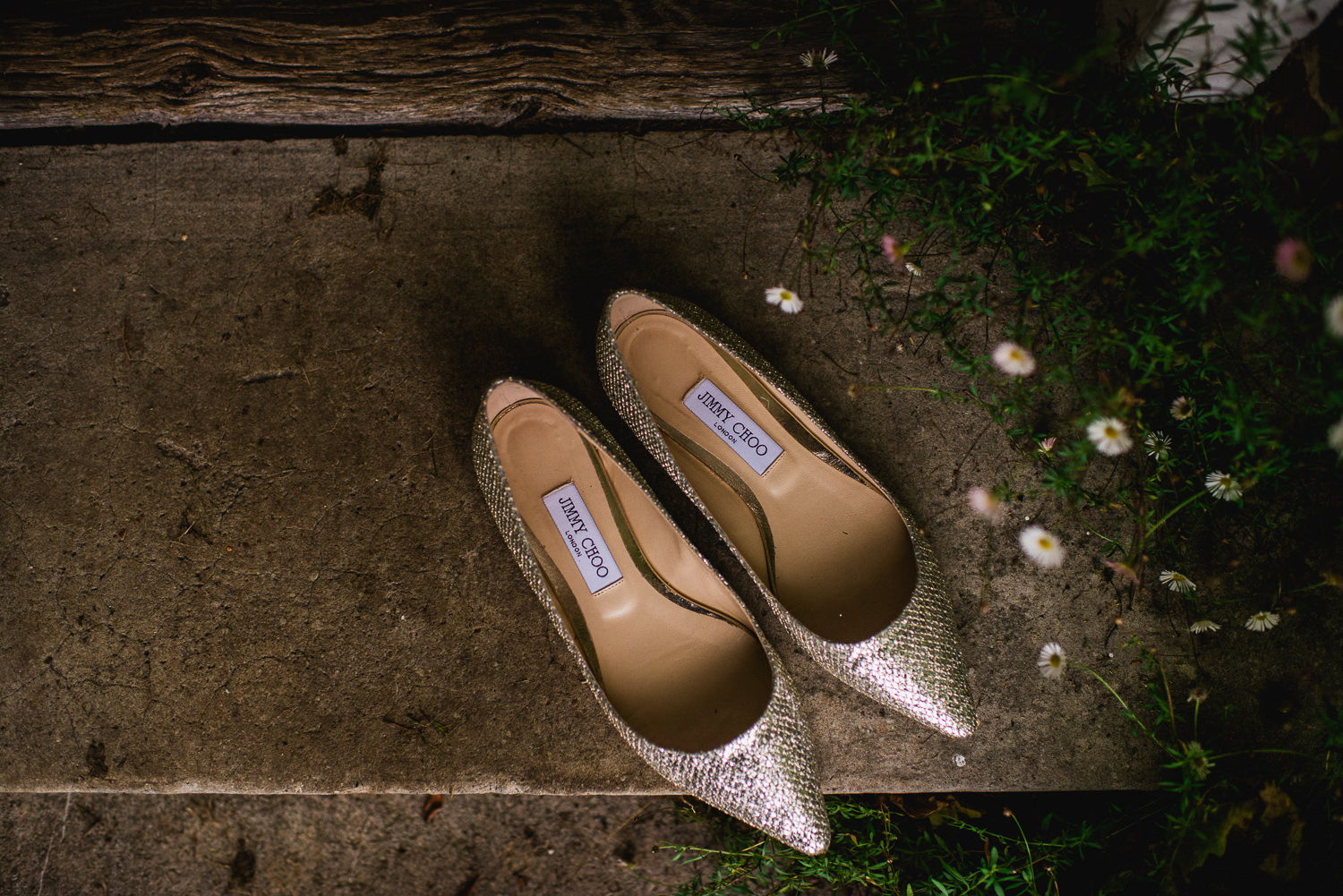 Jimmy Choo Shoes on step