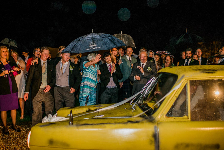 Reliant robin wedding car