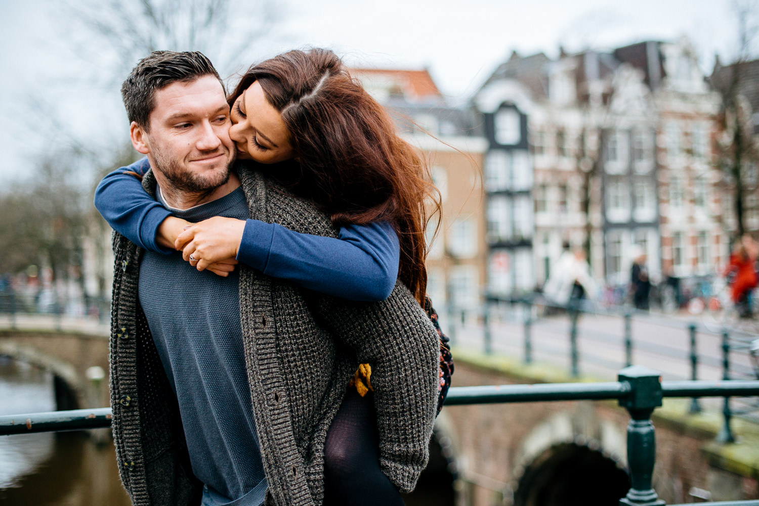 Winter engagement session in Amsterdam