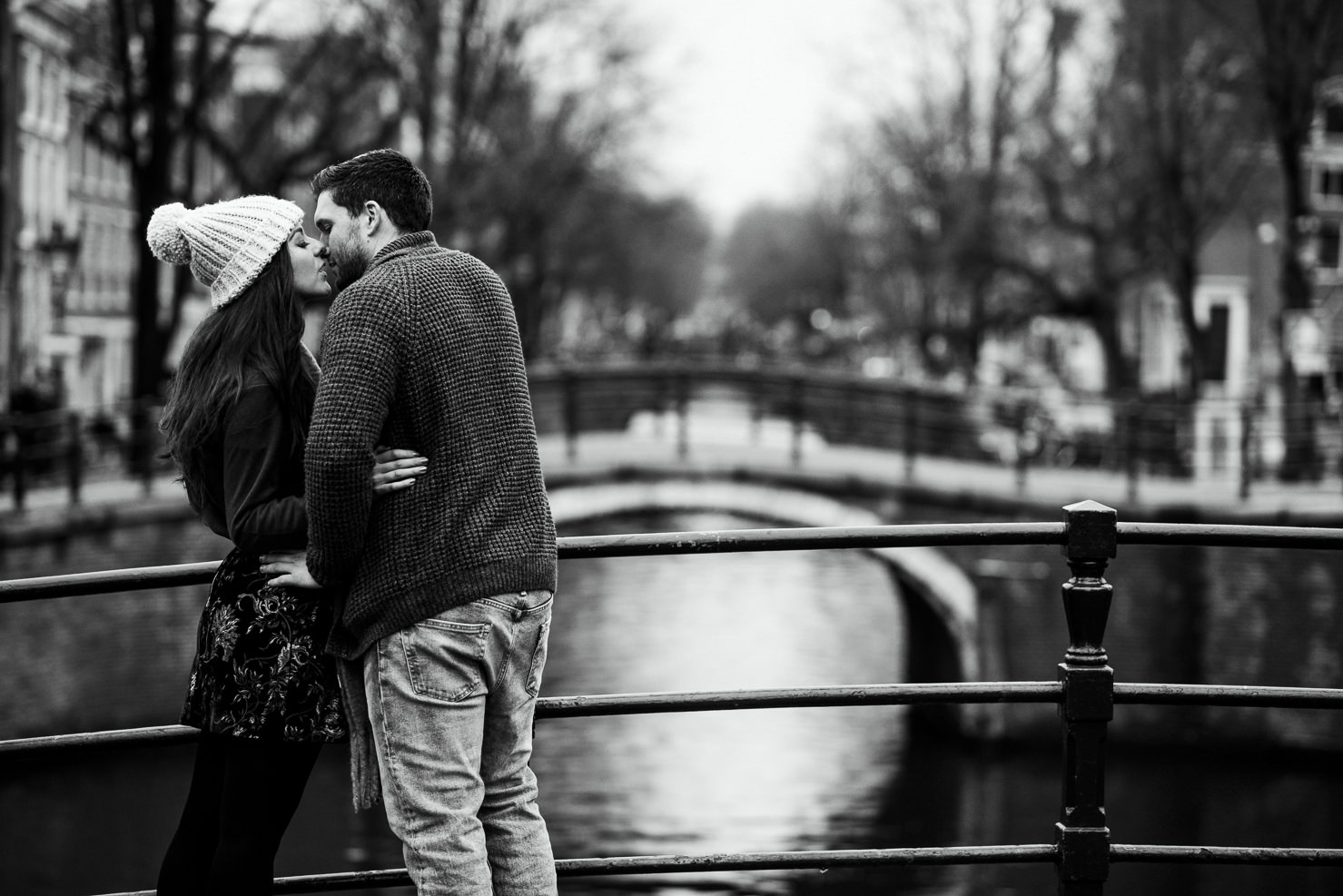 Winter couple shoot in Amsterdam