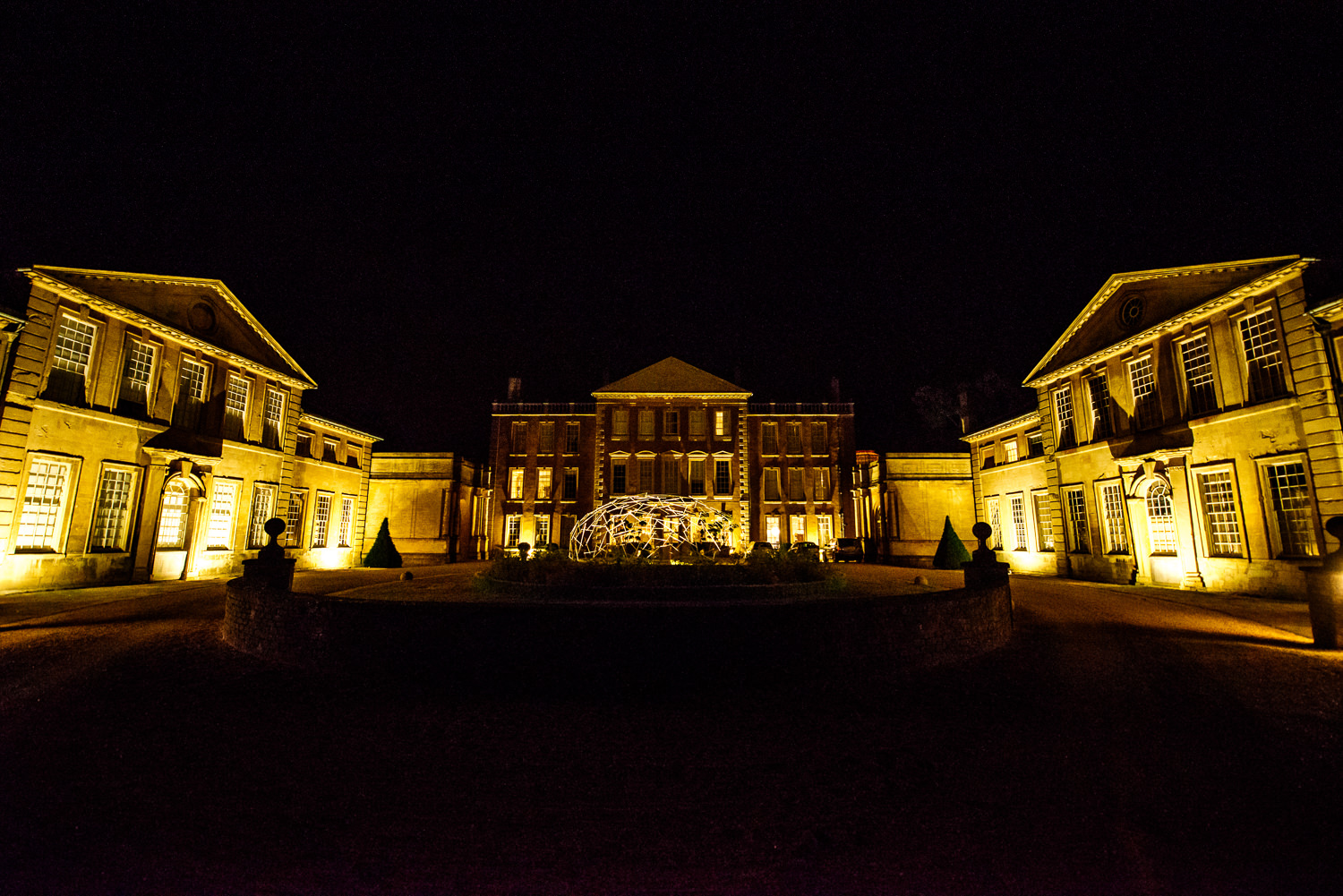 Aynhoe Park Wedding Venue at night