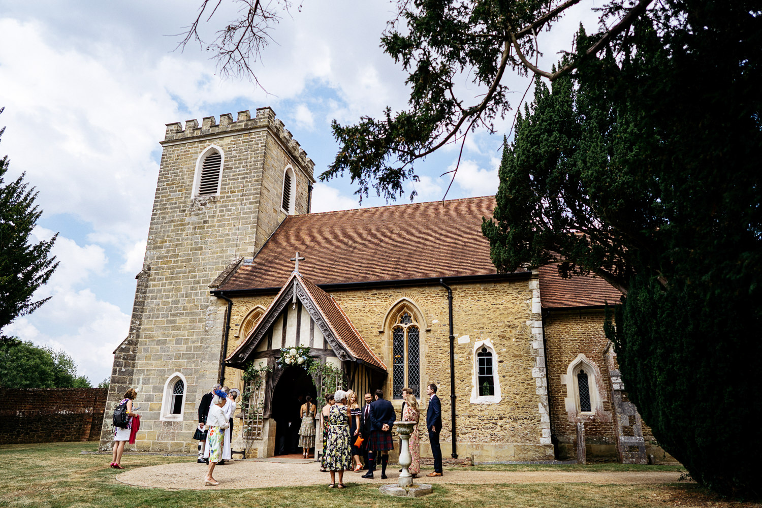wedding at St Nicholas Church, Peper Harow