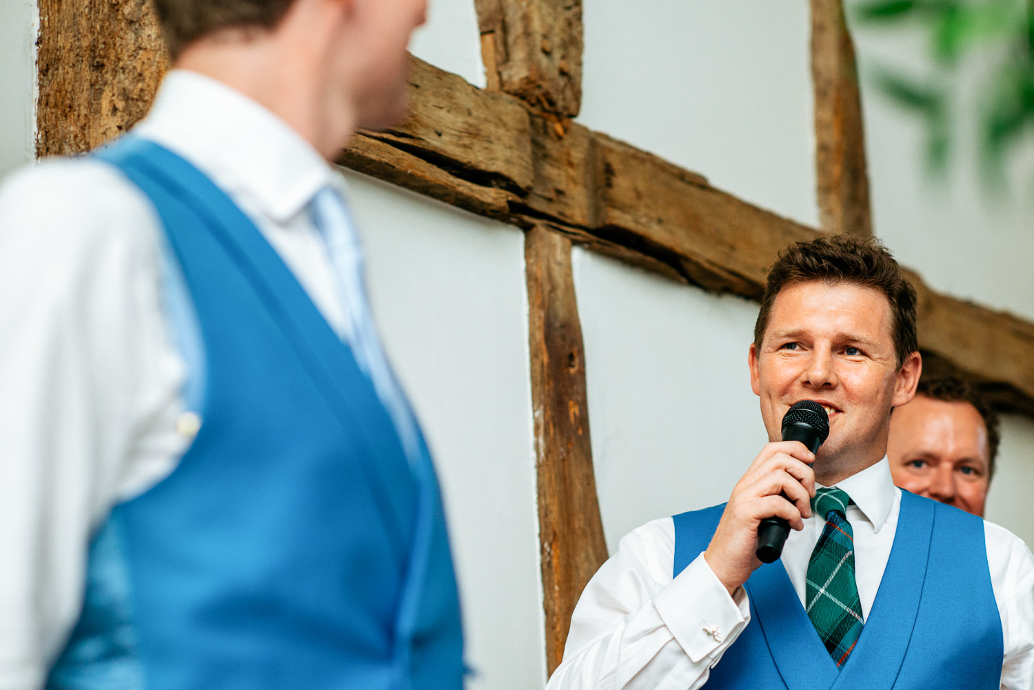 speeches in the barn at Loseley Park