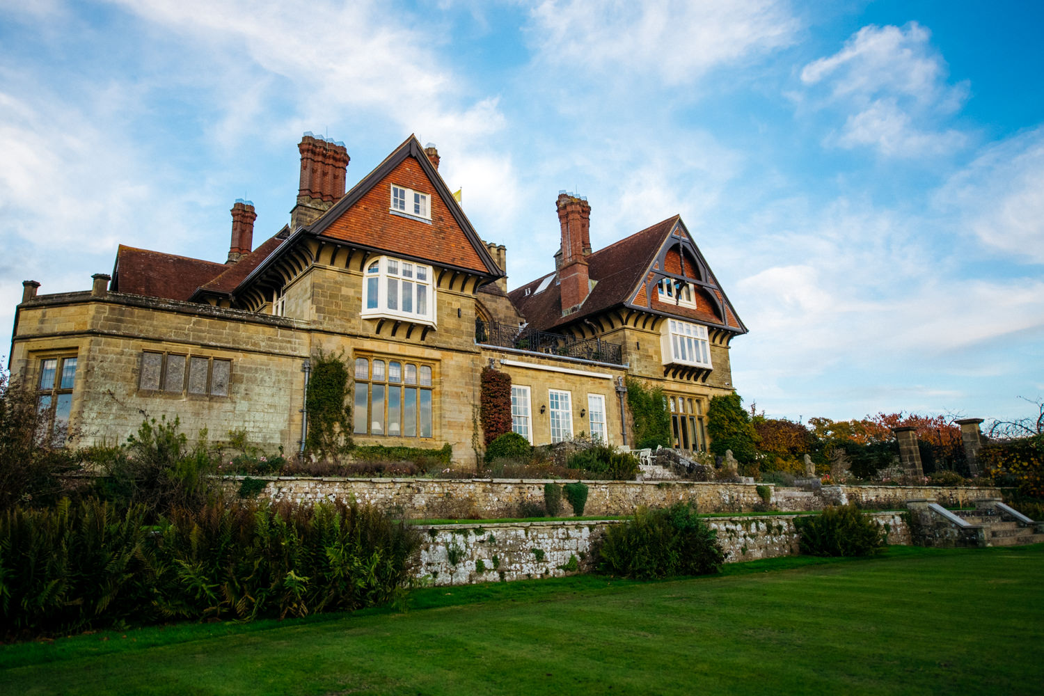 Exterior of Cowdray House Wedding venue