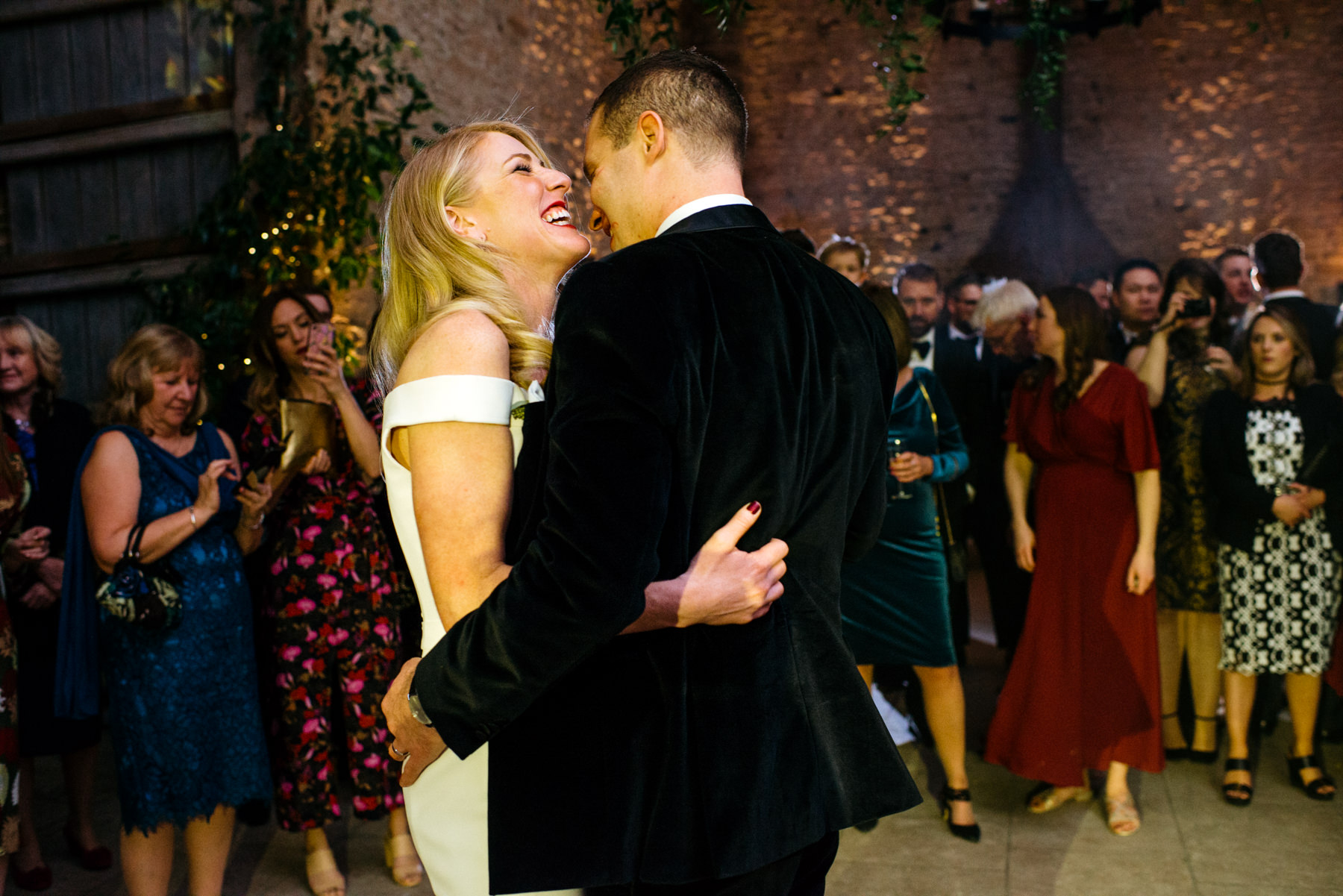 first dance at Stone Barn Cotswolds