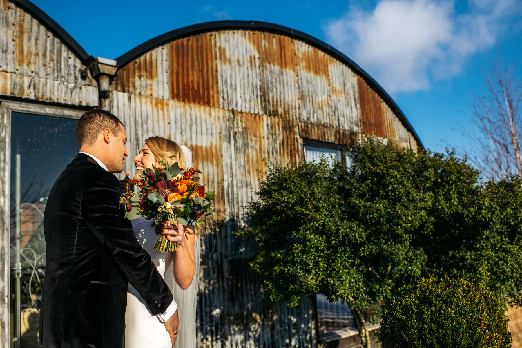 wedding portraits at Stone Barn