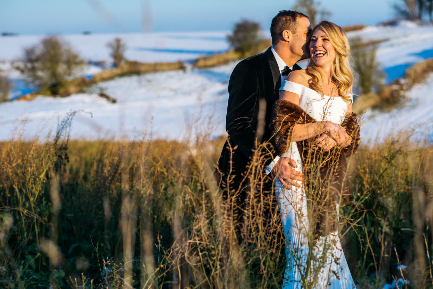 Stone Barn snow wedding