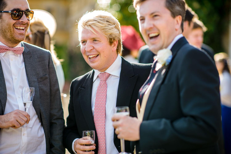 Wedding guests at Blenheim Palace