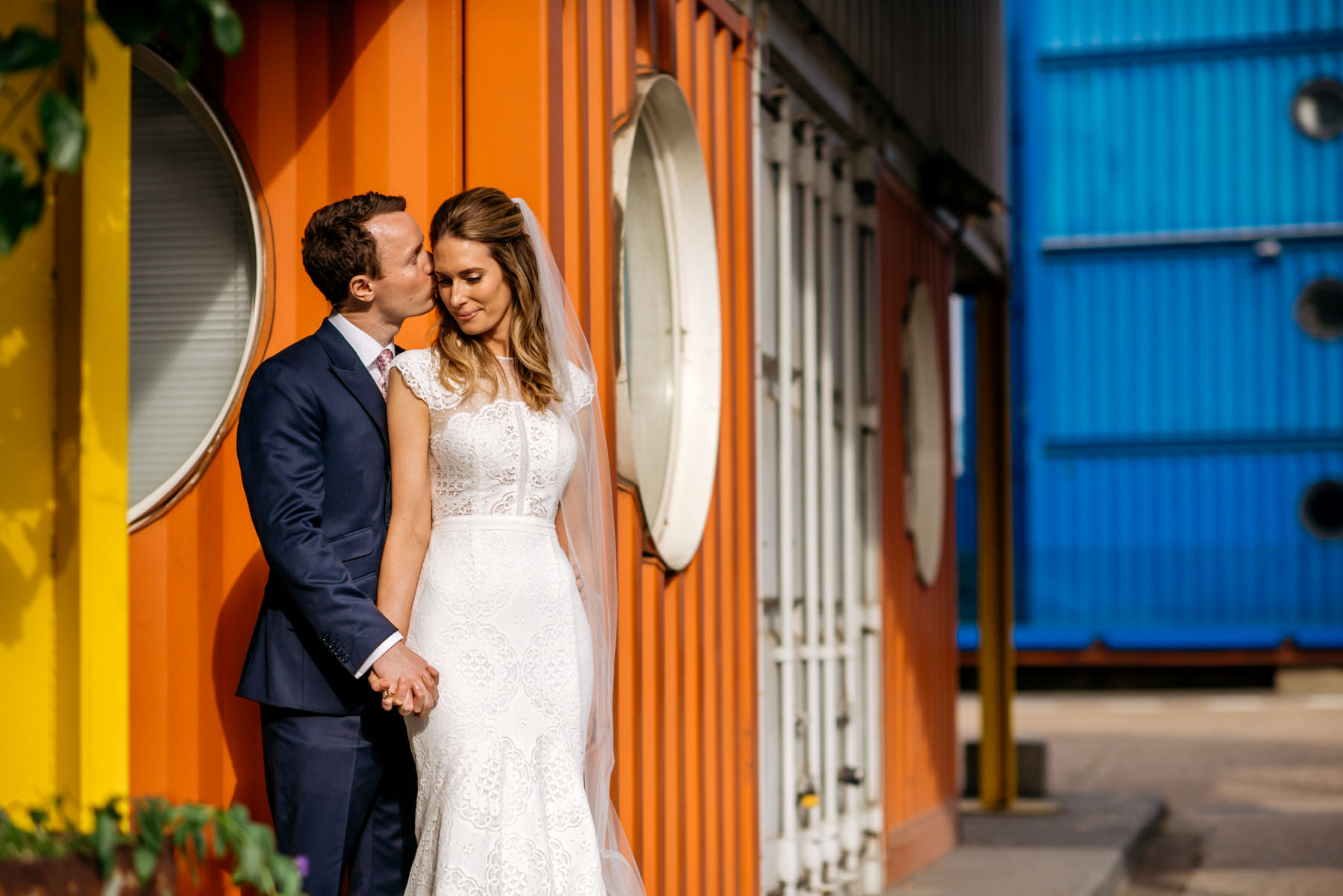 Trinity Bouy Wharf shipping container portrait