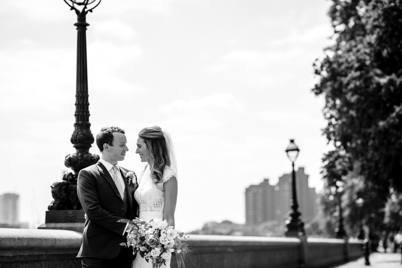 Wedding portraits Chelsea riverside