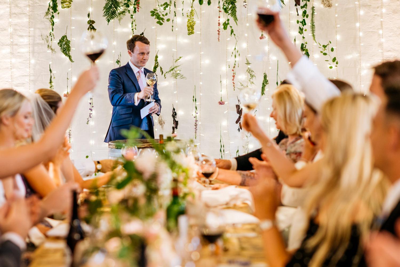 wedding speeches at Trinity Buoy Wharf wedding