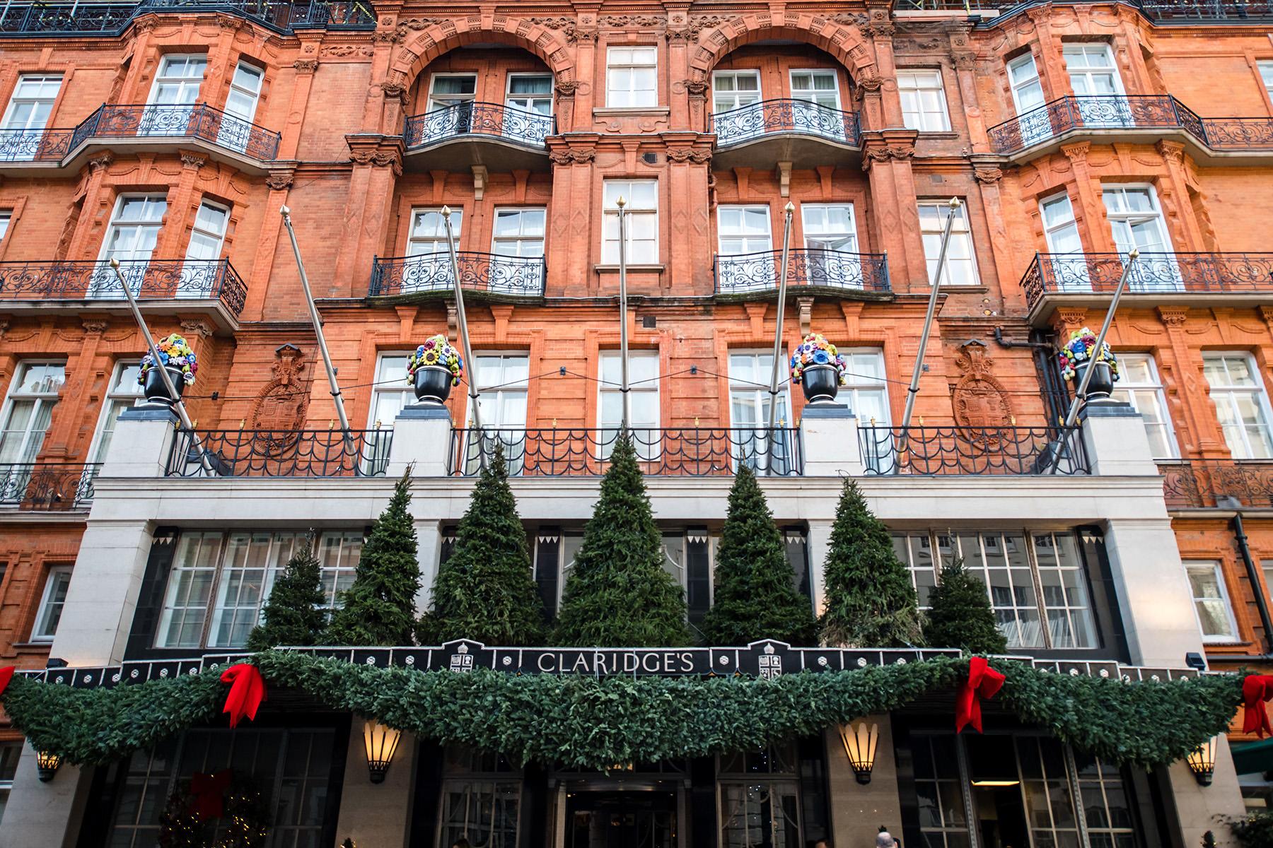 Exterior of Claridges Hotel London