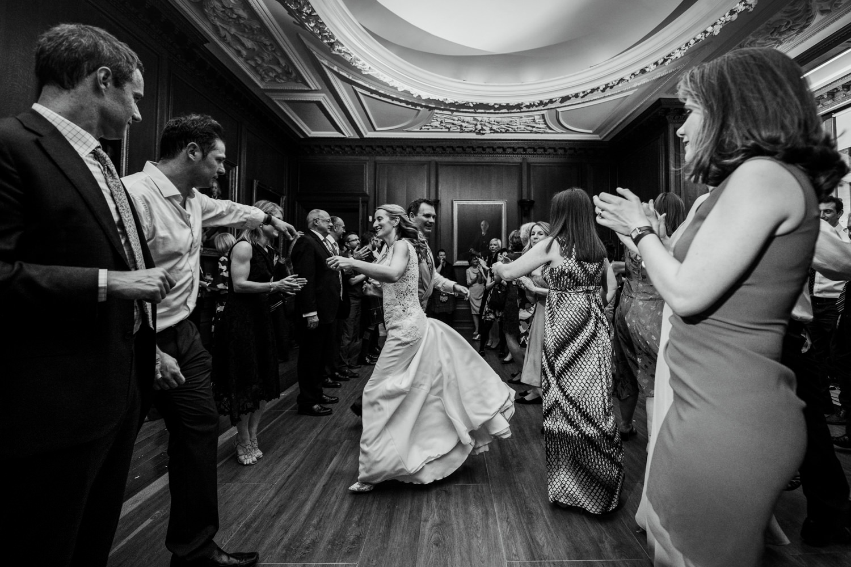 Ceilidh Dancing at wedding