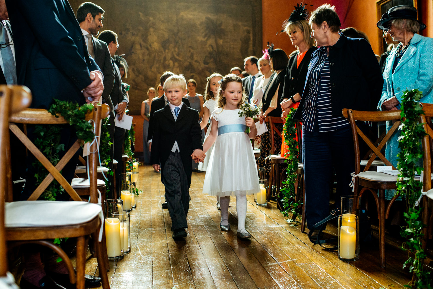 wedding ceremony in Buck Hall at Cowdray House