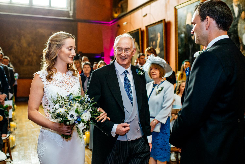 Buck Hall wedding ceremony