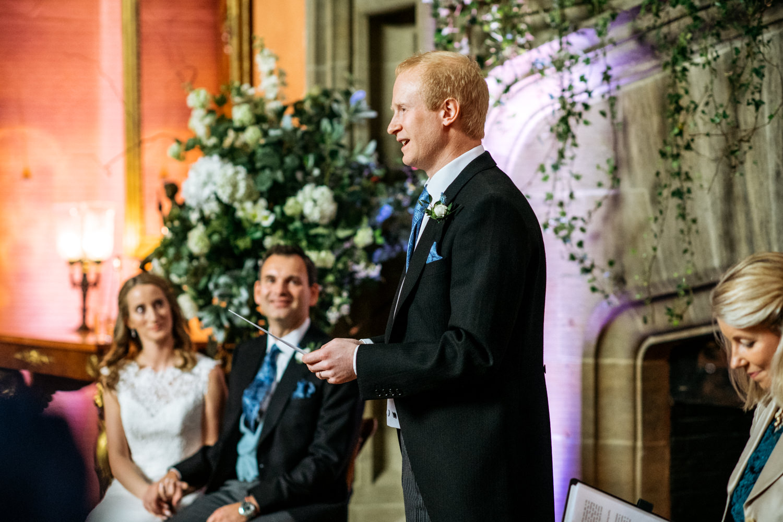 wedding ceremony at Cowdray House