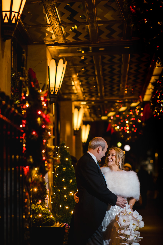 Christmas Wedding at Claridges Hotel