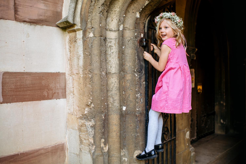 flower girl climbing