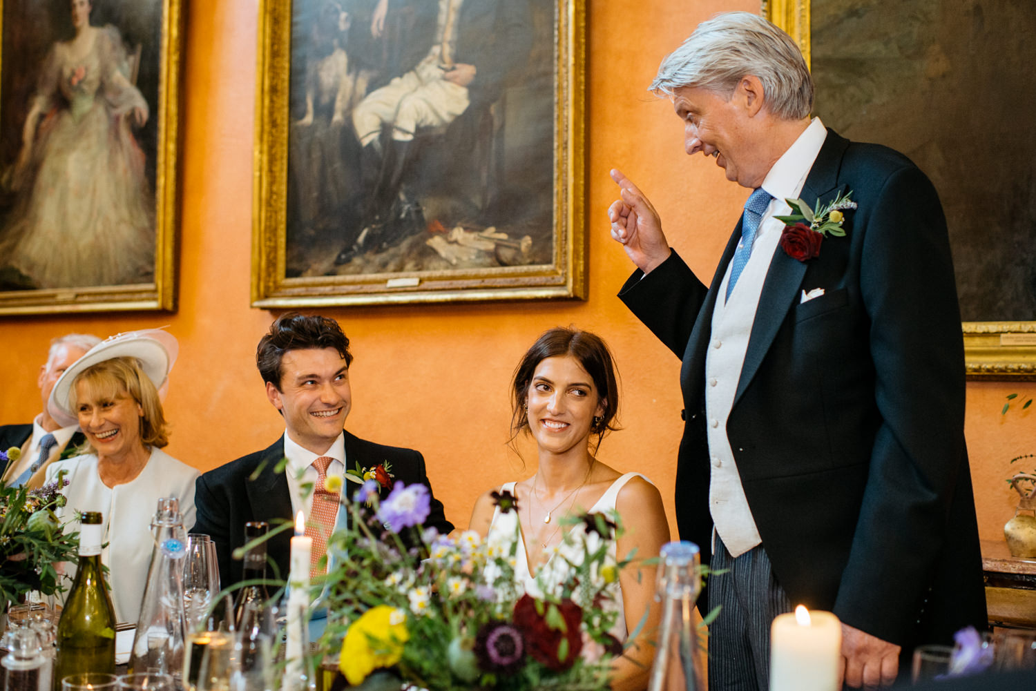 wedding speeches in Buck Hall at Cowdray House