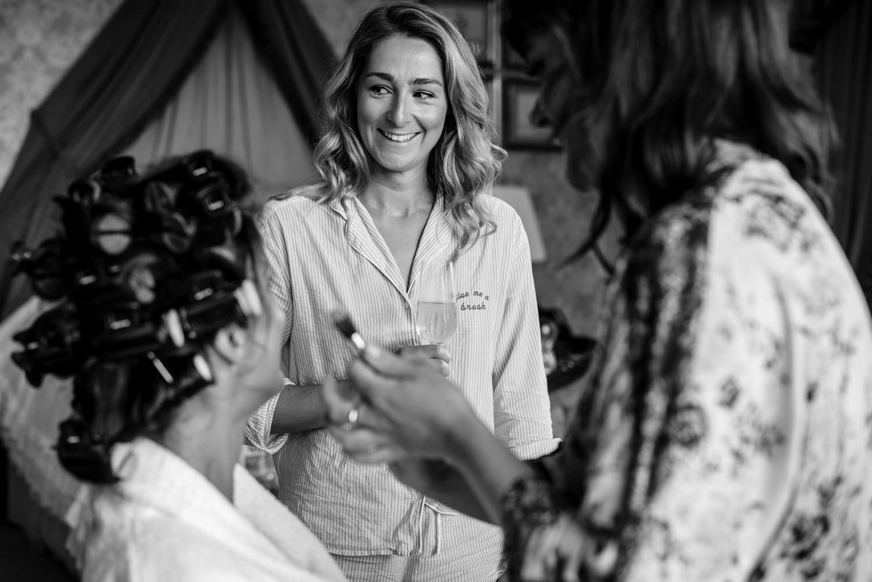 Bridal preparation at cowdray house