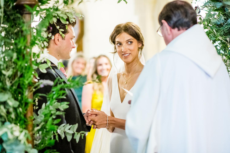 St Laurence Church Lurgashall wedding ceremony