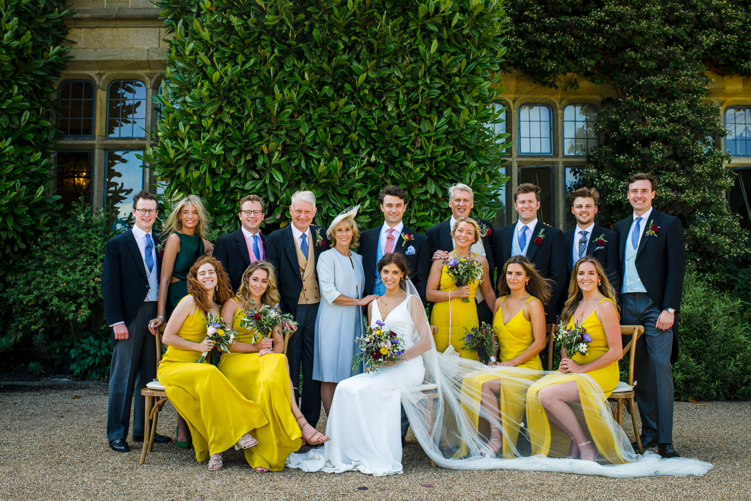 formal photo outside cowdray house
