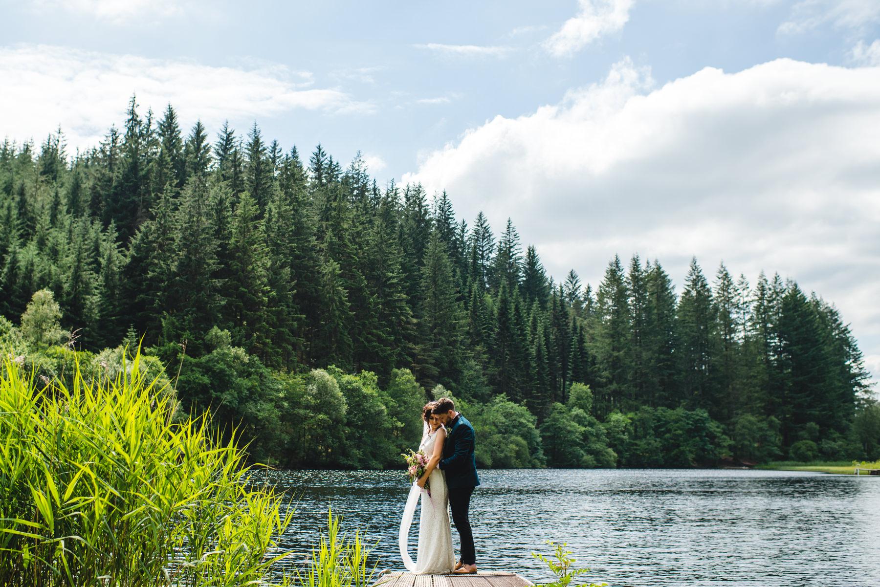Loch Ard Wedding Portraits