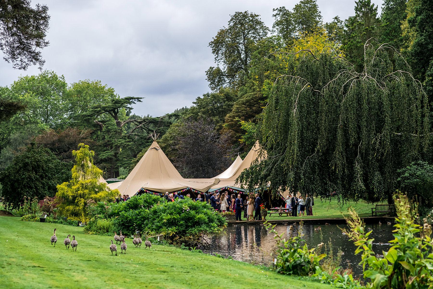 Busbridge Lakes wedding tipi